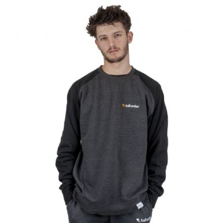 Tall Order Embroidered Logo Crew Sweatshirt - Black / Grey Small
